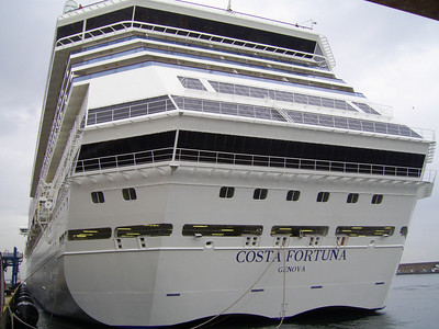M/S COSTA FORTUNA : the stern.