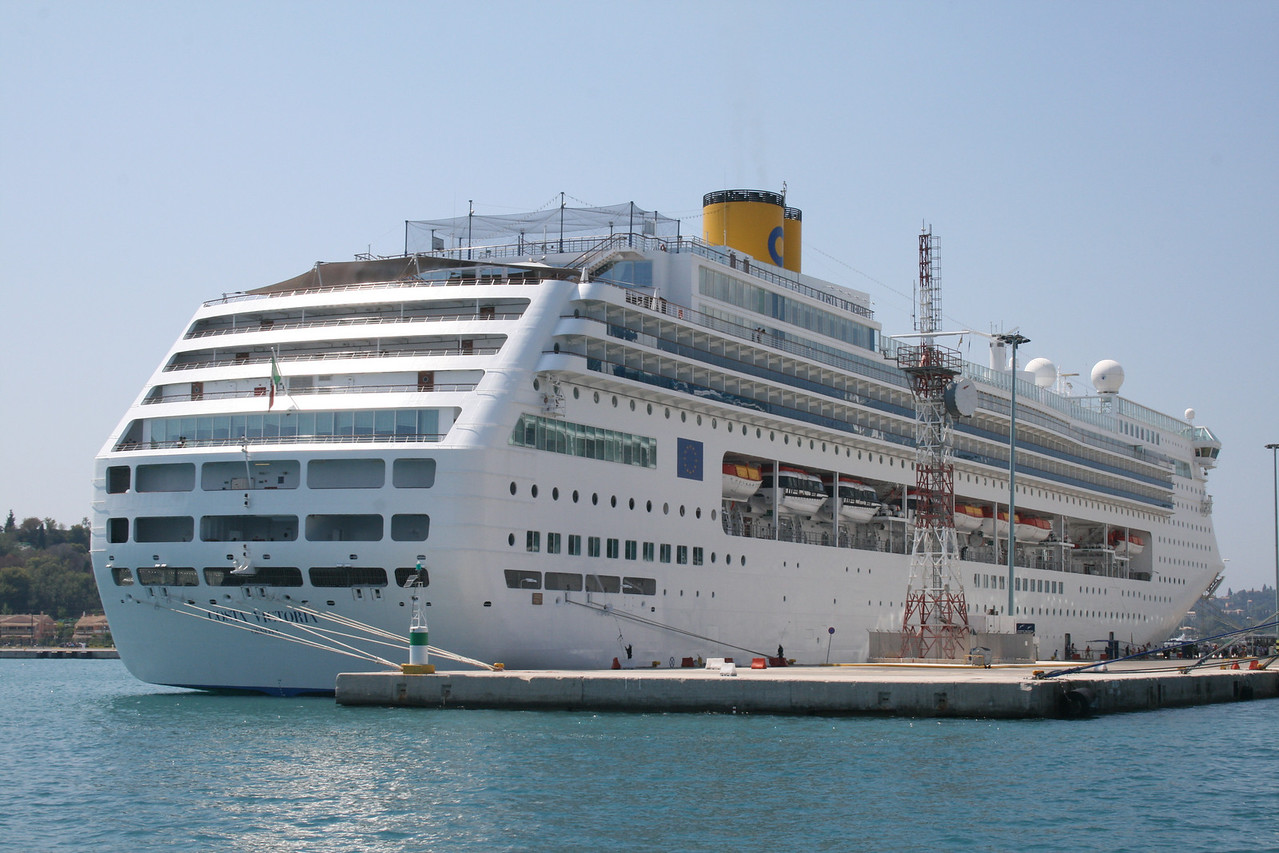 M/S COSTA VICTORIA in Corfu.