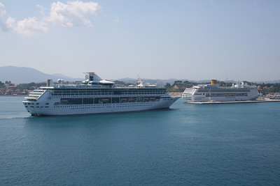 2009 - SPLENDOUR OF THE SEAS arriving to Corfu, with COSTA VICTORIA.