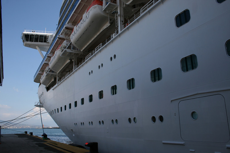 M/S CROWN PRINCESS moored in Napoli.