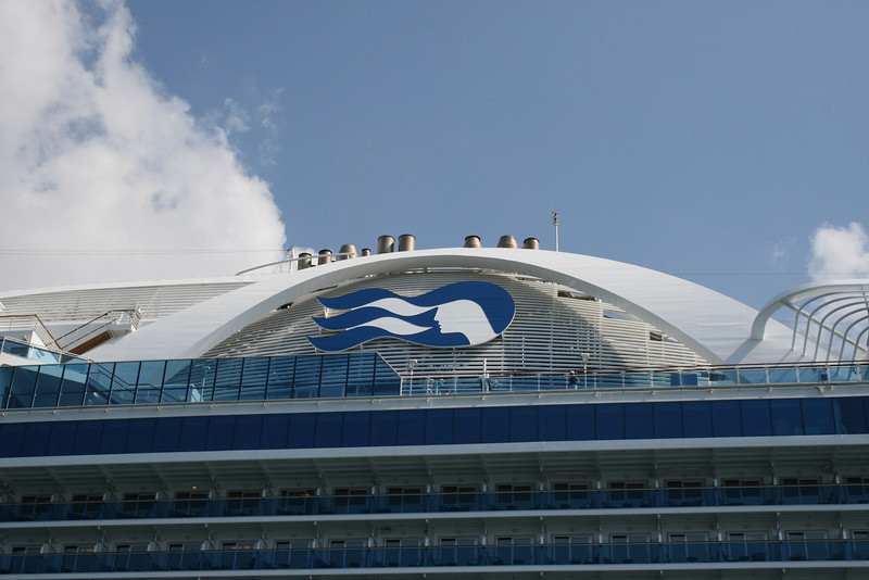 M/S CROWN PRINCESS : the funnel.