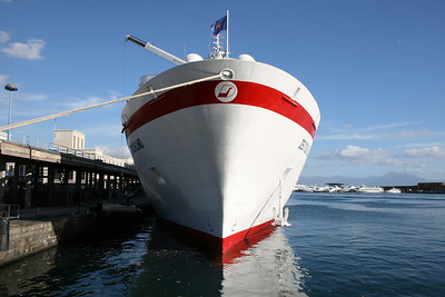 M/S DEUTSCHLAND in Napoli. Front view.