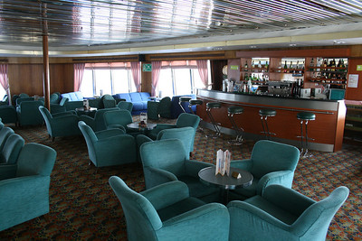 On board T/S FUNCHAL : Gama lounge, Promenade deck.