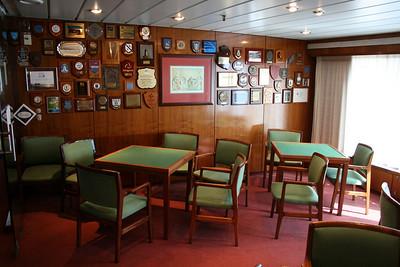 On board T/S FUNCHAL : Card room, Promenade deck.