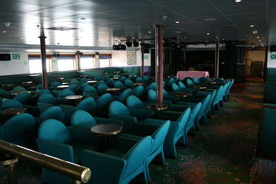 On board T/S FUNCHAL : Ilha Verde Lounge, Promenade deck.
