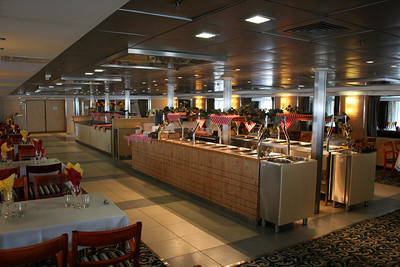2011 - On board M/S KRISTINA KATARINA : buffet restaurant Polaris, deck 6.