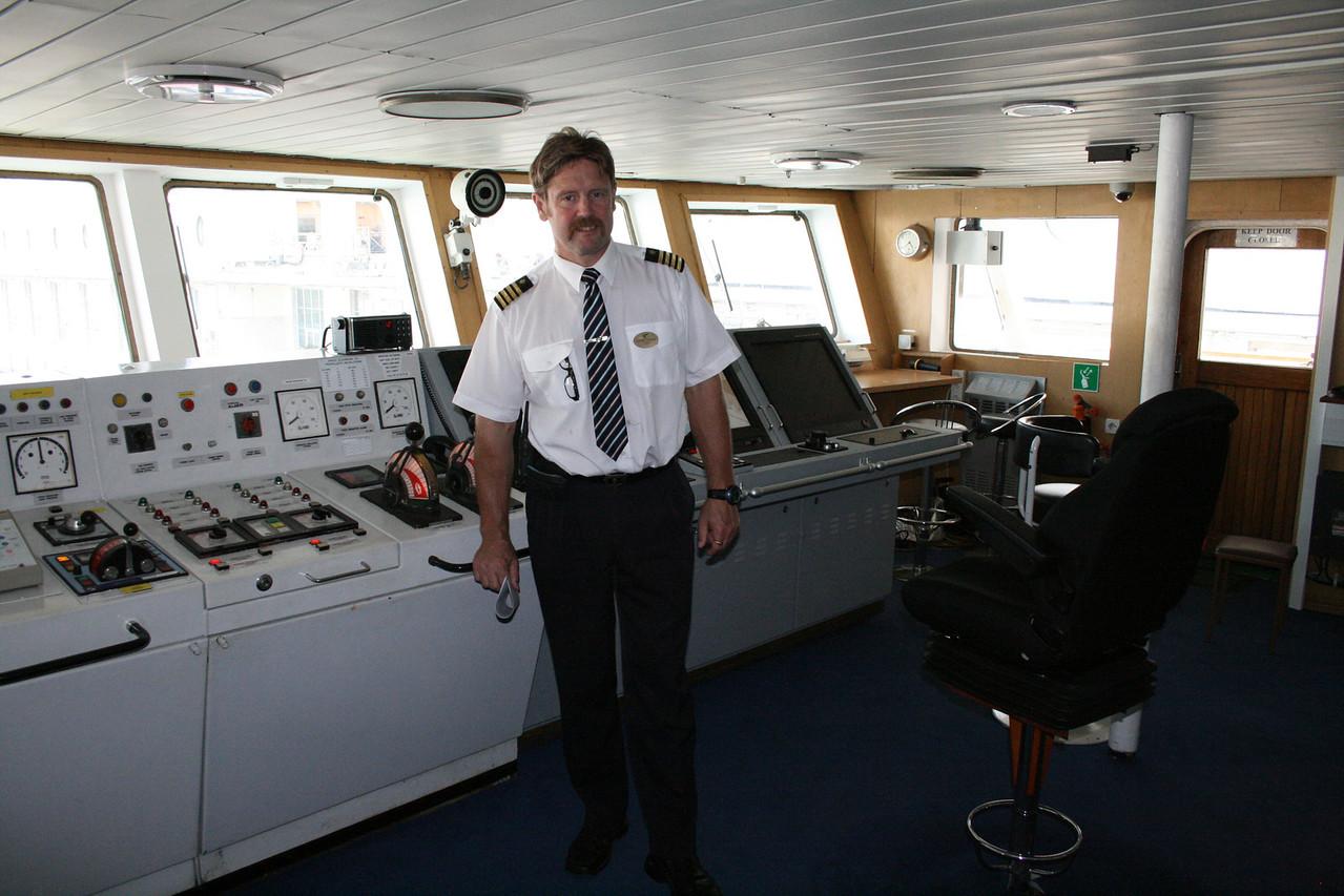 2010 - On board M/S KRISTINA KATARINA : Capt. Ulf-Peter Lindström on duty.