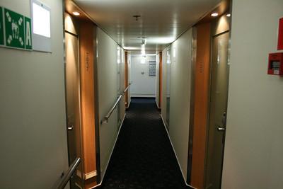 2011 - On board M/S KRISTINA KATARINA : cabin corridor, deck 7.