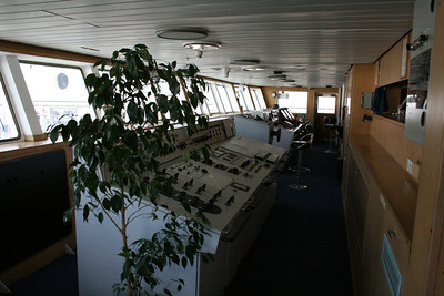 2010 - On board M/S KRISTINA KATARINA : the bridge.