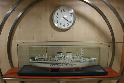 2010 - On board M/S KRISTINA KATARINA : model of the older ship of the company, S/S KRISTINA REGINA.