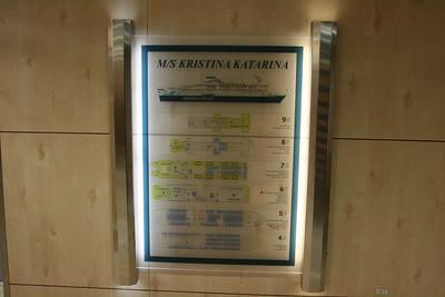 2010 - On board M/S KRISTINA KATARINA : ship's map.