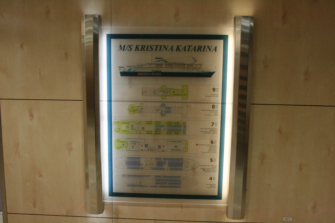 2010 - On board M/S KRISTINA KATARINA : ship's map.