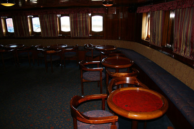 2009 - On board S/S KRISTINA REGINA : Manoeuvre bar, deck 5.