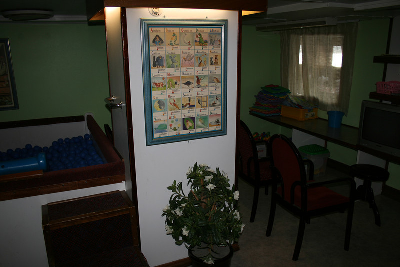 2009 - On board S/S KRISTINA REGINA : children' playroom.