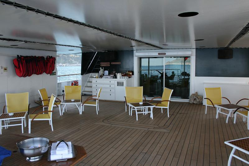 2011 - On board M/S LE PONANT : Marina, Saint Barth deck.
