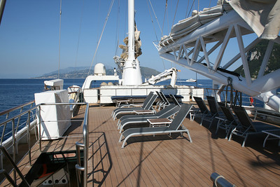 2011 - On board M/S LE PONANT : sun deck.