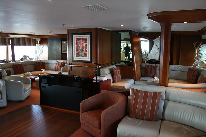 2011 - On board M/S LE PONANT : Salon Emeraude, Saint Barth deck.