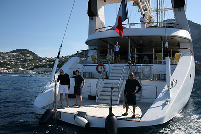 2011 - M/S LE PONANT offshore Capri : embarkation platform.