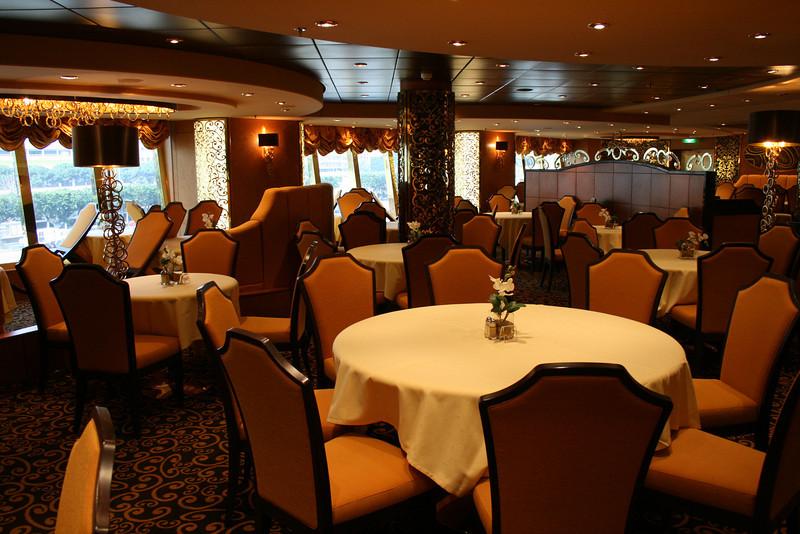 2009 - On board MSC FANTASIA : Il Cerchio d'Oro Panoramic restaurant.