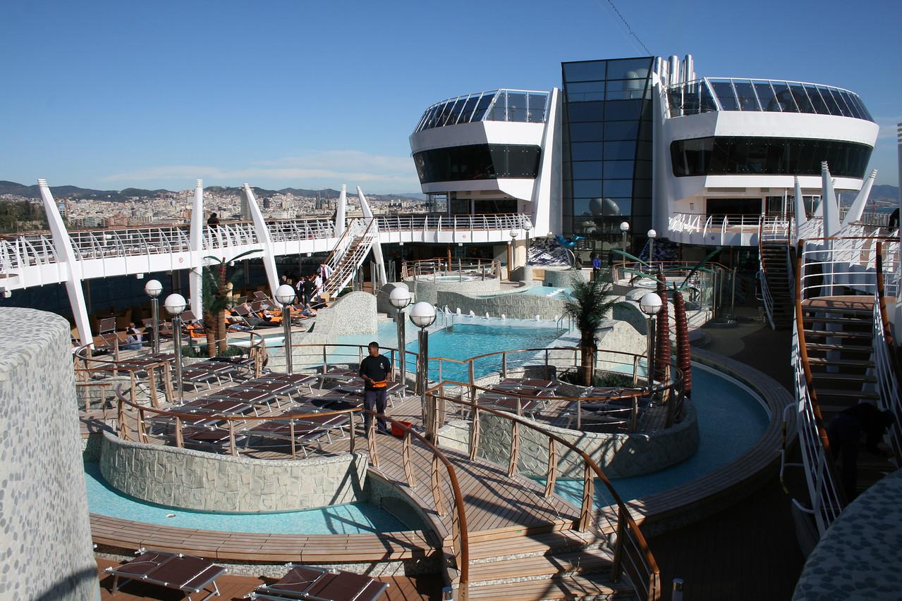 2009 - On board MSC FANTASIA : Aqua park.
