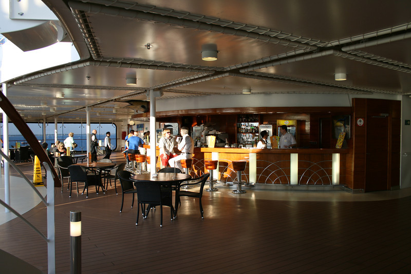 2008 - On board MSC MUSICA : Blue Marlin bar.