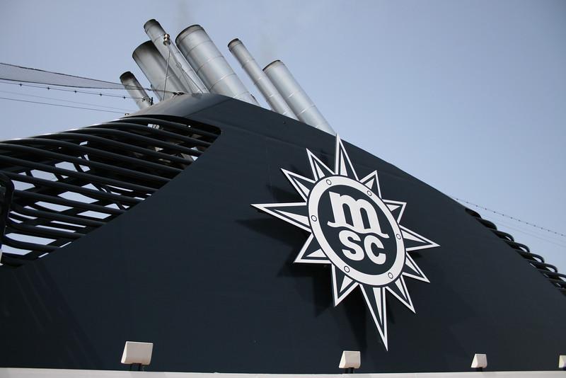 2008 - On board MSC MUSICA : the funnel.