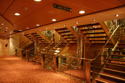 2008 - On board MSC MUSICA : stairs.