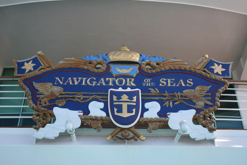 2010 - On board NAVIGATOR OF THE SEAS : ship's plate.