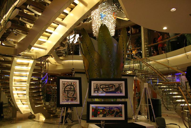2010 - On board NAVIGATOR OF THE SEAS : Art Gallery.