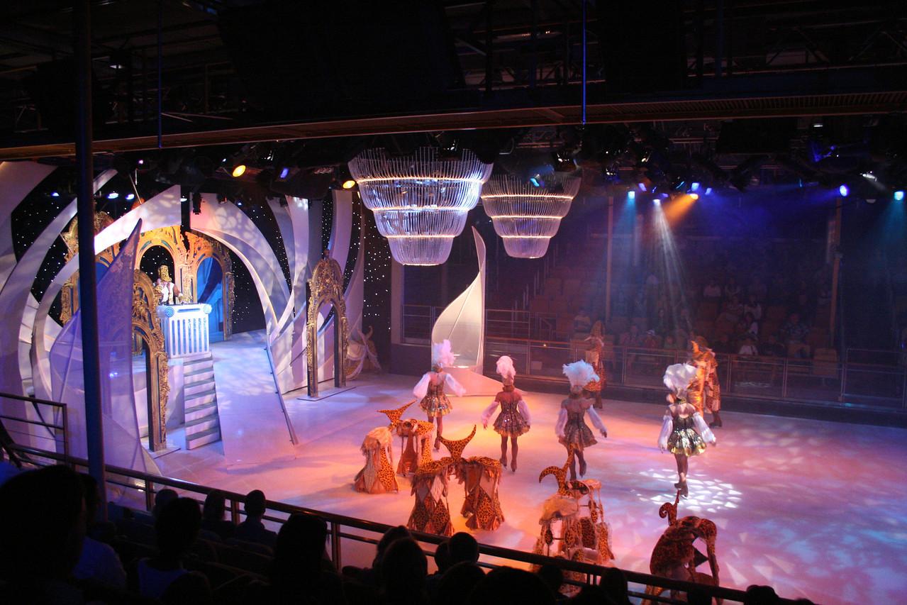2010 - On board NAVIGATOR OF THE SEAS : Studio B Ice Theater.
