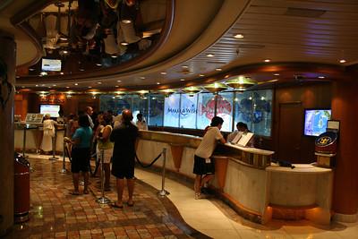 2010 - On board NAVIGATOR OF THE SEAS : Purser's desk.