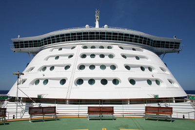2010 - On board NAVIGATOR OF THE SEAS : front view.