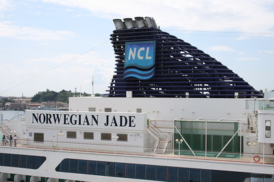 2008 - M/S NORWEGIAN JADE in Corfu : the funnel.