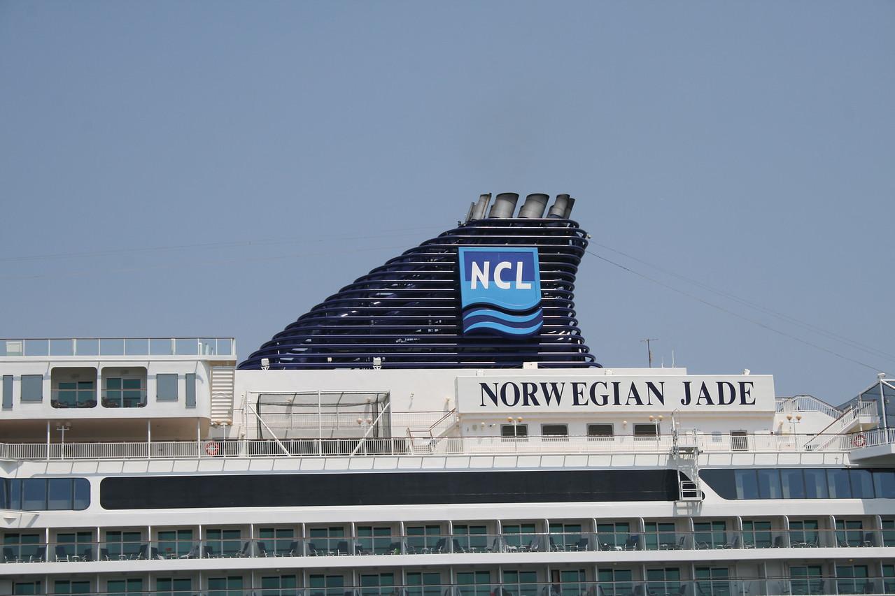 2010 - M/S NORWEGIAN JADE in Napoli : the funnel.