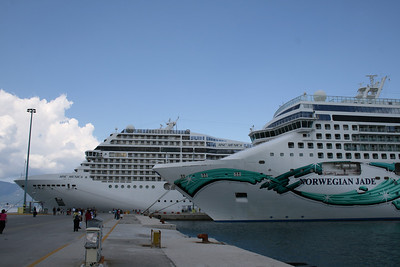 2008 - NORWEGIAN JADE and MSC MUSICA in Corfu.