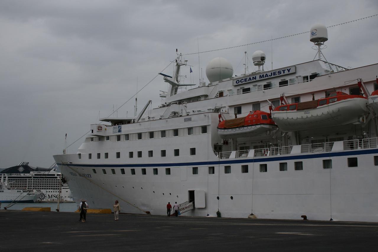 2010 - M/S OCEAN MAJESTY in Corfu.