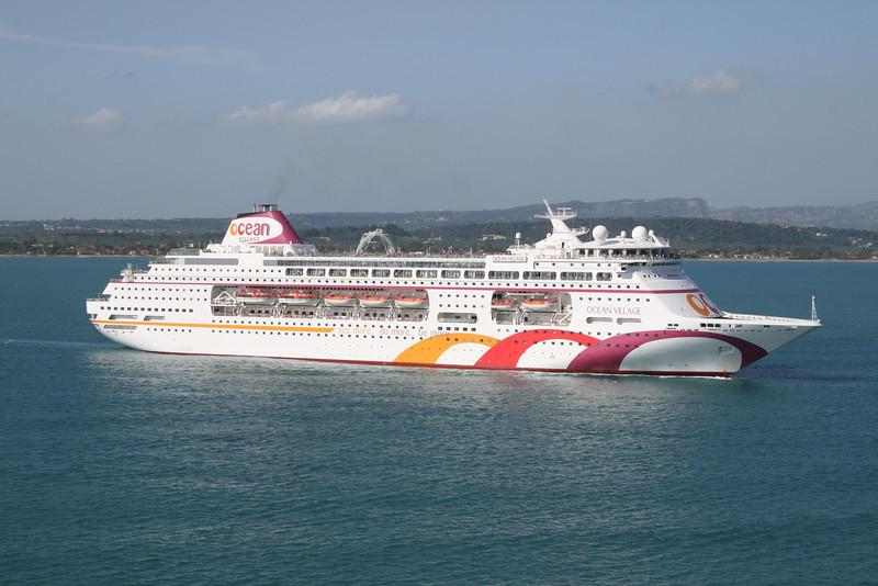 2008 - M/S OCEAN VILLAGE sailing from Katakolon.