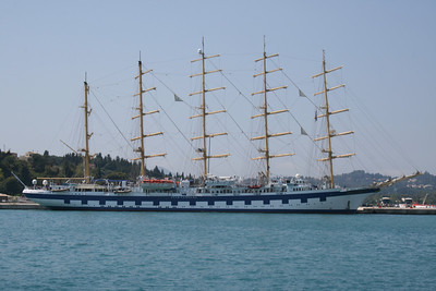 2009 - ROYAL CLIPPER in Corfu.