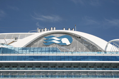 2010 - M/S RUBY PRINCESS in Napoli : the funnel.