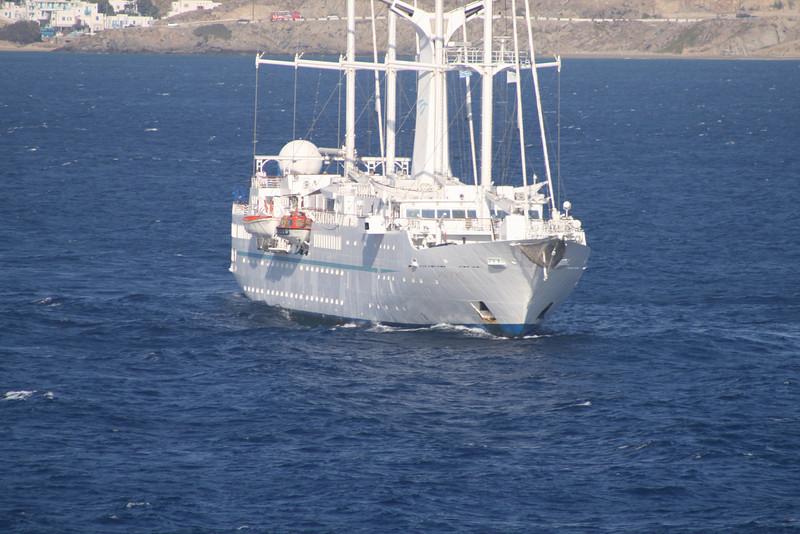 2009 - WIND SPIRIT sailing offshore Mykonos.
