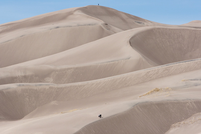 "Chris and Rae begin their trek up ""High Dune"" at Great Sand Dunes National Park <a href=""http://www.nps.gov/grsa/index.htm"">http://www.nps.gov/grsa/index.htm</a>"