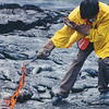 Yi Zhao samples lava