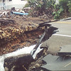 The Komohana Street bridge washed away during the great flood of 2000 on the Big Island. Photo by CSAV.