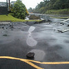 In 2000, a huge flood washed away gravel underlying the paved entrance to the University of Hawaii at Hilo, causing the asphalt to sink and buckle.