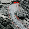 Pahoehoe lava slowly flows downhill. Photo by Jose Luis Palma.