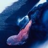 [P87] [RApr 20 1987] [JDG9919 Pahoehoe toe on new black sand - Kalapana] [U.S. Geological Survey Photo by J.D. Griggs]
