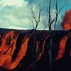 [P73] [R12/30/69] [Mauna Ulu Fountain; Cascade into Aloi Crater (Kilauea) U.S. Geological Survey Photo by D. A. Swanson] [HI Eruptions Mauna Ulu 3]