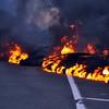 Lava burning road