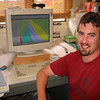 Peter Graves works on a lava hazard map as part of the CSAV cooperative research project with HVO. Photo by CSAV.
