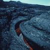 [HI Lava flows Aa] [P84] [Drained lava channel mauna loa]